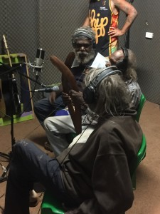 shot of recording process with elders